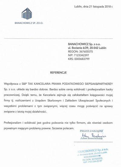 BANACHOWICZ Sp. z o.o.